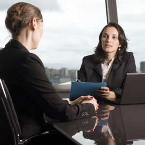Business Women Conversation